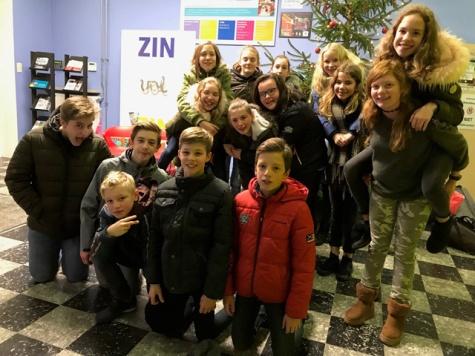 Leerlingen 1Ab laatste schooldag Sint-Lutgart 2017