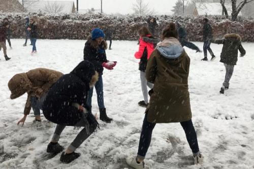 Sneeuwpret als ontspanning in de examenperiode