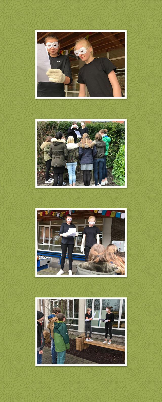 Collage Gedichtendag Middenschool Beernem
