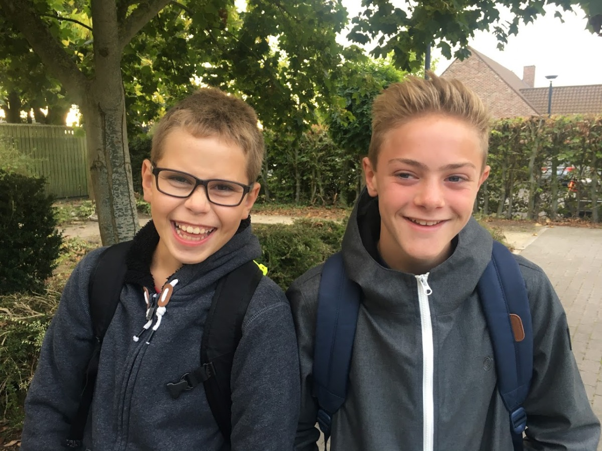 Blij terug naar school in Sint-Lutgart